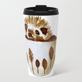 Hedgehog in a Cup Painted with Coffee Travel Mug