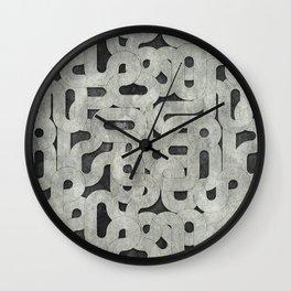 retro swirls, black and white Wall Clock