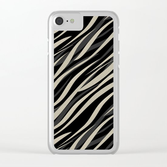 Tiger abstract striped pattern . Clear iPhone Case
