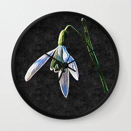 Snowdrop Wall Clock