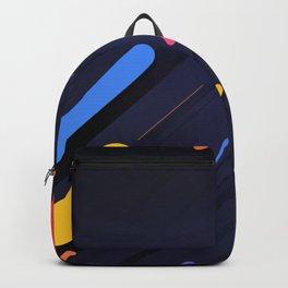Multicolor shapes on black backround Backpack
