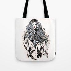 Woman & birds Tote Bag