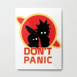 Dont Panic Metal Print