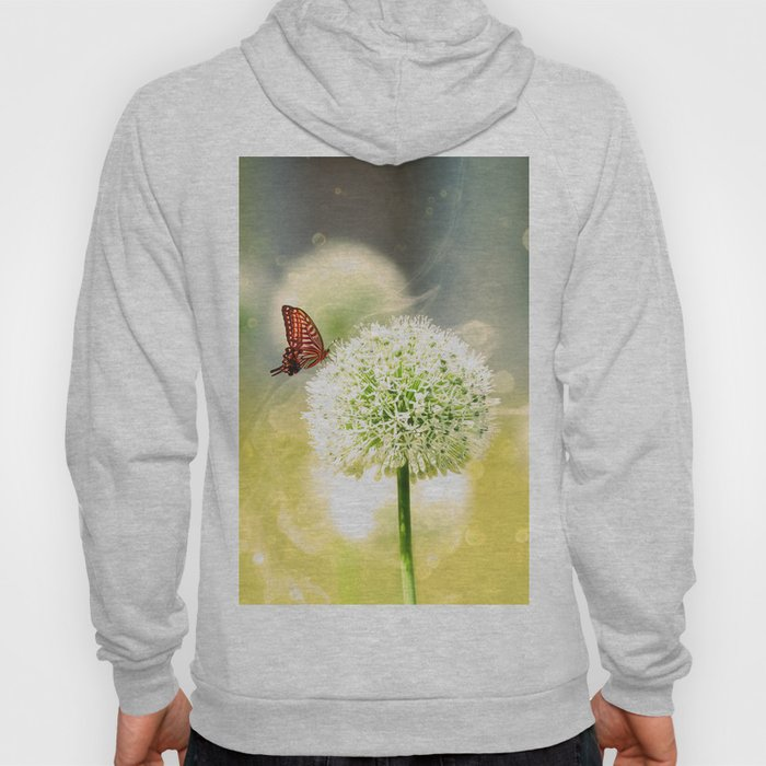 Allium fantasy flowers with butterfly Hoody