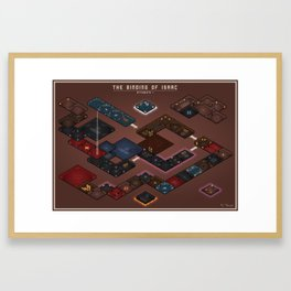 The Binding of Isaac - Floor Plan (No Names Variant) Framed Art Print