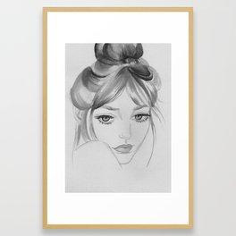 Jane Black&White Framed Art Print