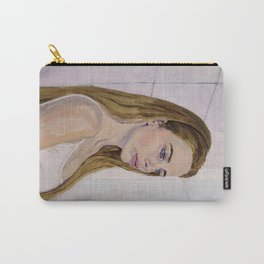 Girl in a Bathroom Carry-All Pouch