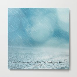 Cleanse me Psalm 139 Metal Print