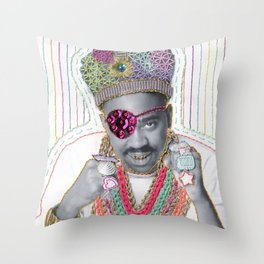 Embroidered Slick Rick Throw Pillow