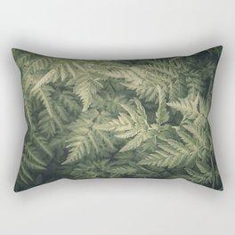 SHADED GREEN FERN Rectangular Pillow