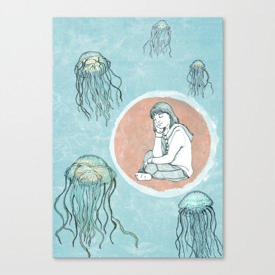 Jellyfish dreams Canvas Print
