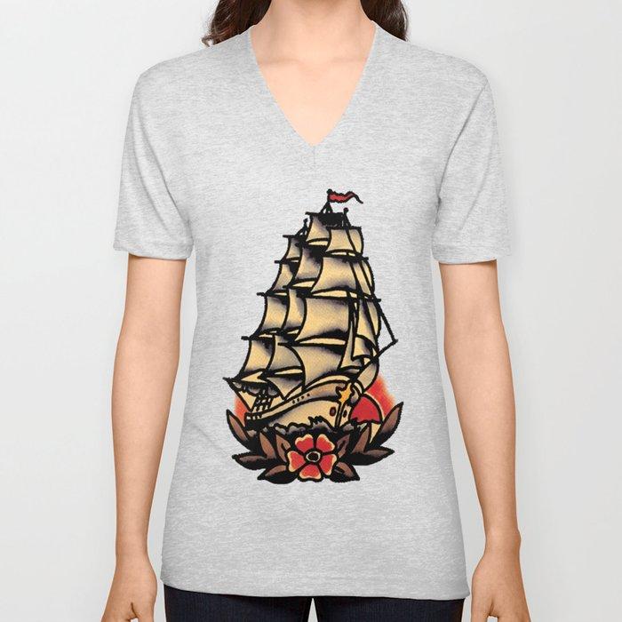sailboat Unisex V-Neck