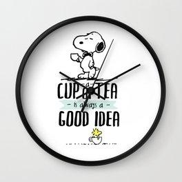 Cup of tea good idea Wall Clock