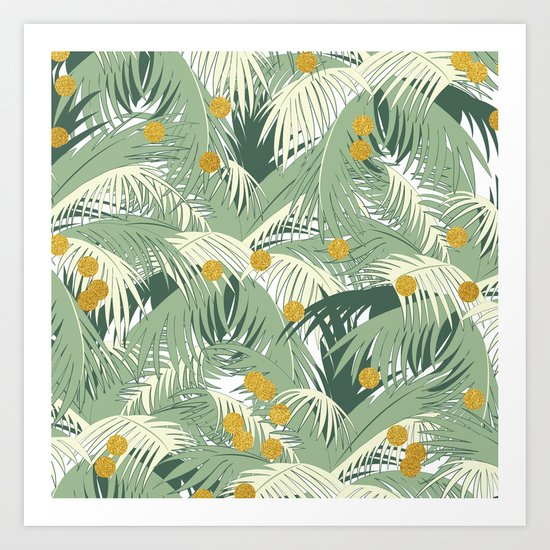 Palm + Gold #society6 #decor #buyart Art Print