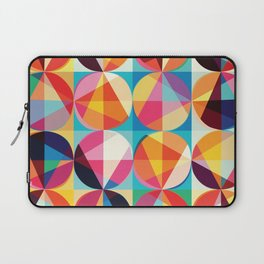 Beautiful colors Geometry, geometric abstract triangles circles squares Laptop Sleeve