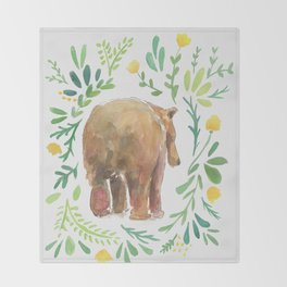 Watercolor Bear Throw Blanket