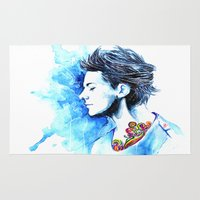 louis Area & Throw Rugs featuring Louis #2 by dariemkova