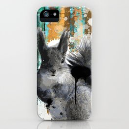 Cheeky Industrious Squirrel  iPhone Case
