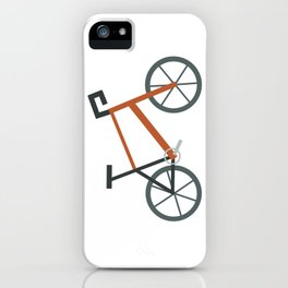 Orange Bike iPhone Case
