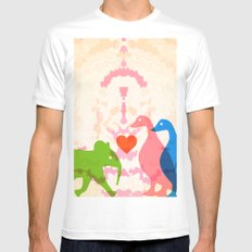 Family (Pink and Blue) Mens Fitted Tee White MEDIUM