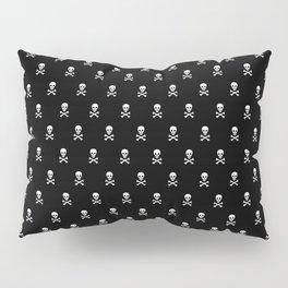 SKULLS PATTERN - BLACK & WHITE - LARGE Pillow Sham