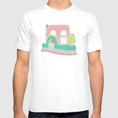 Polly Pocket's Home Mens Fitted Tee MEDIUM White