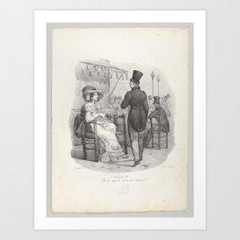 Chap. IV Elle me regard! Dieu quel bonheur! (She notices me! What happiness!),1824 Art Print
