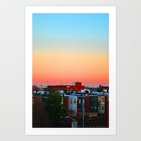 baltimore Art Prints featuring Baltimore  by Brooke Armstrong