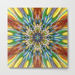 Multicolour Starburst 9 Metal Print