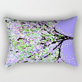 TREES OIL PAINTING PURPLE Rectangular Pillow
