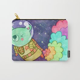 Flying to the Moon Bear Carry-All Pouch