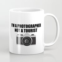 photographer Mugs featuring Photographer Tourist Funny by bitobots
