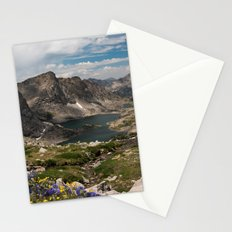 Alpine Lakes, Wildflowers and Mountains in the Wyoming Wilderness Stationery Cards