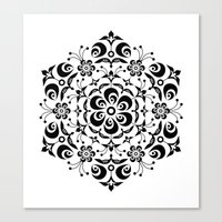 snowflake Canvas Prints featuring Snowflake by BWartwork