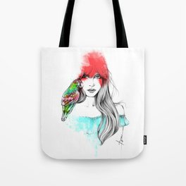 Parrot and Me Tote Bag