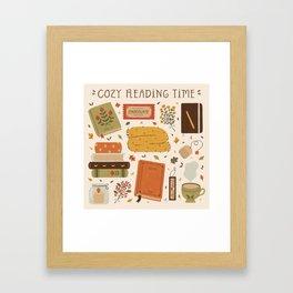 Cozy Reading Time Framed Art Print