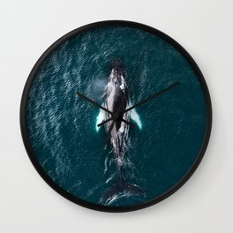 Humpback Whale in Iceland - Wildlife Photography Wall Clock