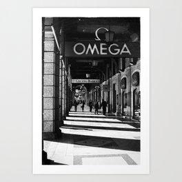 my city shadows Art Print