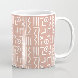 Hieroglyphs on Old Rose Background Coffee Mug