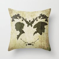 silhouette Throw Pillows featuring silhouette by Camille
