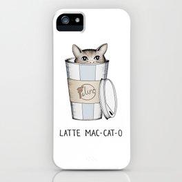 Latte Mac-cat-o iPhone Case