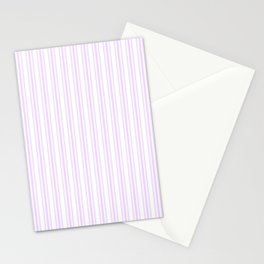 Trendy Large Orchid Lilac Pastel Pale Purple French Mattress Ticking Double Stripes Stationery Cards