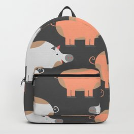 Piggie pattern Backpack