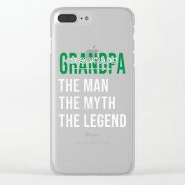 Saudi Arabia Grandpa Legend Fathers Day Clear iPhone Case