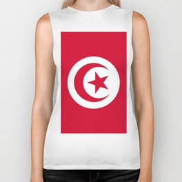 Tunisia flag emblem Biker Tank