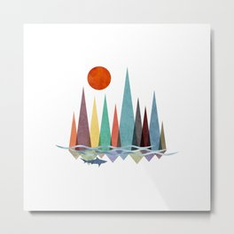 Mountains over the sea Metal Print