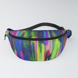 Colorful digital art splashing G256 Fanny Pack