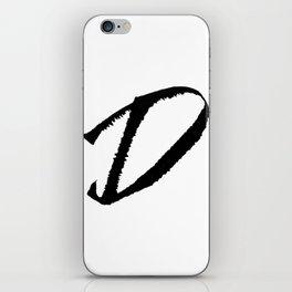 Letter D Ink Monogram iPhone Skin