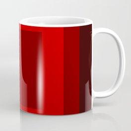 Dark Red Square Box Design Coffee Mug
