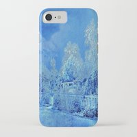 scrubs iPhone & iPod Cases featuring Wedgewood Blue English Garden by Judy Palkimas